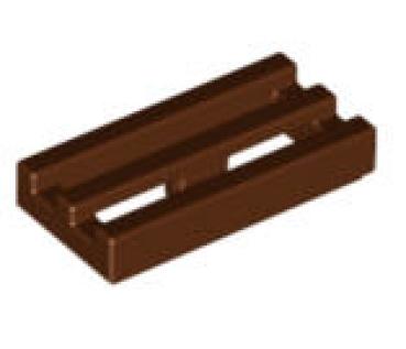 lego fliesen 2412b fliese grill 1x2 rotbraun. Black Bedroom Furniture Sets. Home Design Ideas