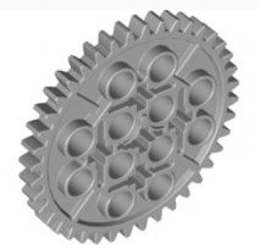 LEGO Technic 3649 Zahnrad 40 Zähne, hellgrau