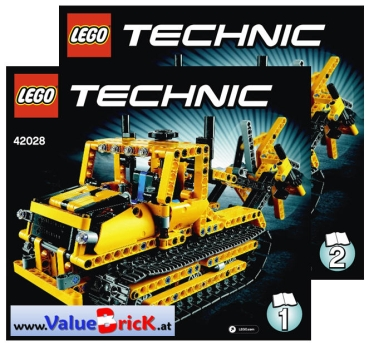 lego technic bauanleitung 42028 bulldozer. Black Bedroom Furniture Sets. Home Design Ideas