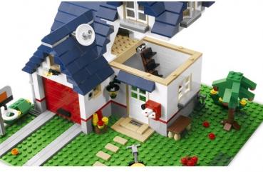 Lego creator 5891 haus mit garage for Lego modernes haus