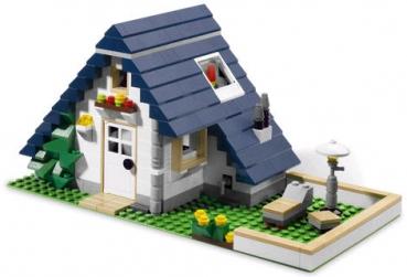 Lego creator 5891 haus mit garage for Modernes lego haus