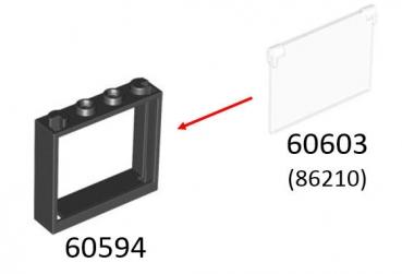 lego t ren und fenster 60603 fensterglas f r rahmen 1x4x3. Black Bedroom Furniture Sets. Home Design Ideas