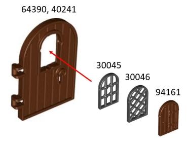 lego t ren und fenster 94161 fenterladen f r rahmen 1x2x2 2 3. Black Bedroom Furniture Sets. Home Design Ideas