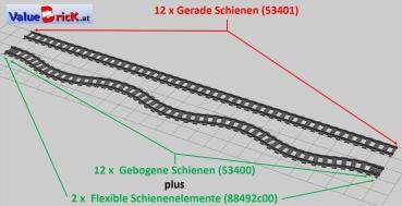 lego eisenbahn 12x53400 schienersatz set. Black Bedroom Furniture Sets. Home Design Ideas
