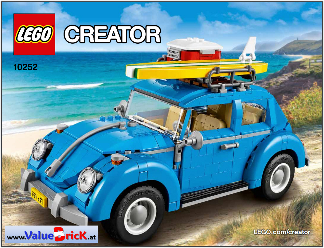 lego creator bauanleitung 10252 vw k fer. Black Bedroom Furniture Sets. Home Design Ideas