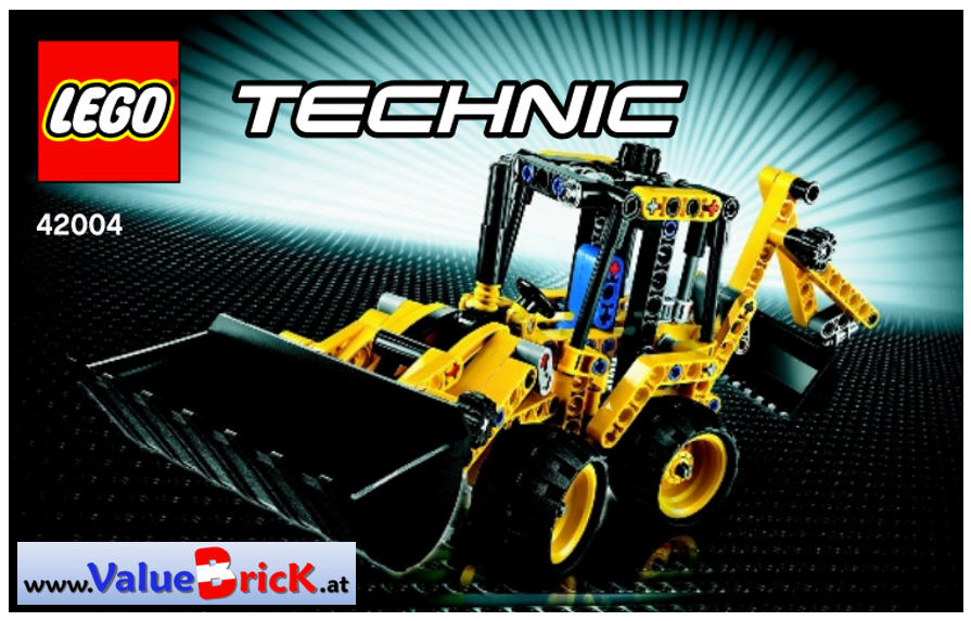 lego technic bauanleitung 42004 mini baggerlader. Black Bedroom Furniture Sets. Home Design Ideas