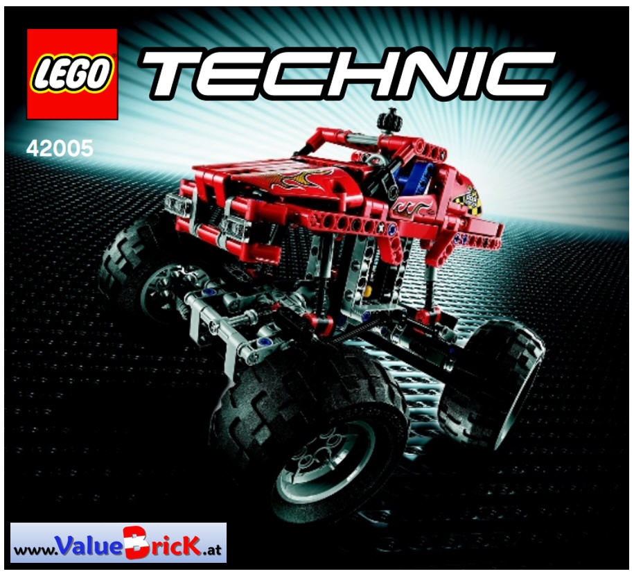lego technic bauanleitung 42005 monster truck. Black Bedroom Furniture Sets. Home Design Ideas