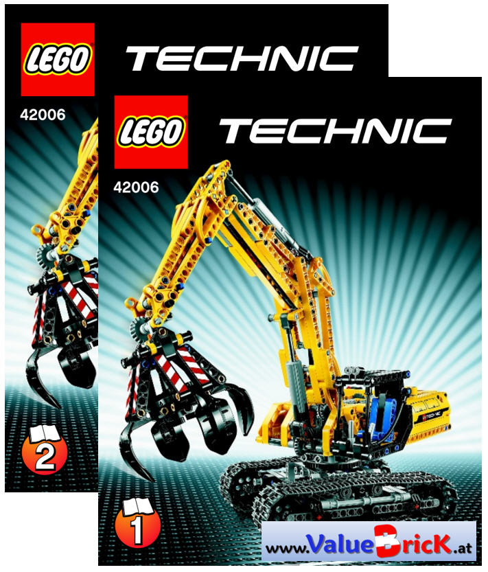 lego technic bauanleitung 42006 raupenbagger. Black Bedroom Furniture Sets. Home Design Ideas