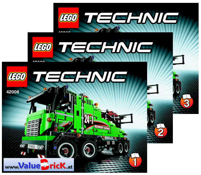 lego technic bauanleitung 42008 abschlepptruck. Black Bedroom Furniture Sets. Home Design Ideas