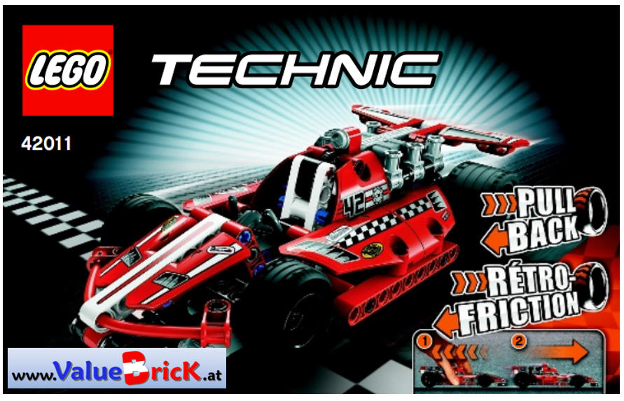 lego technic bauanleitung 42011 action rennwagen. Black Bedroom Furniture Sets. Home Design Ideas