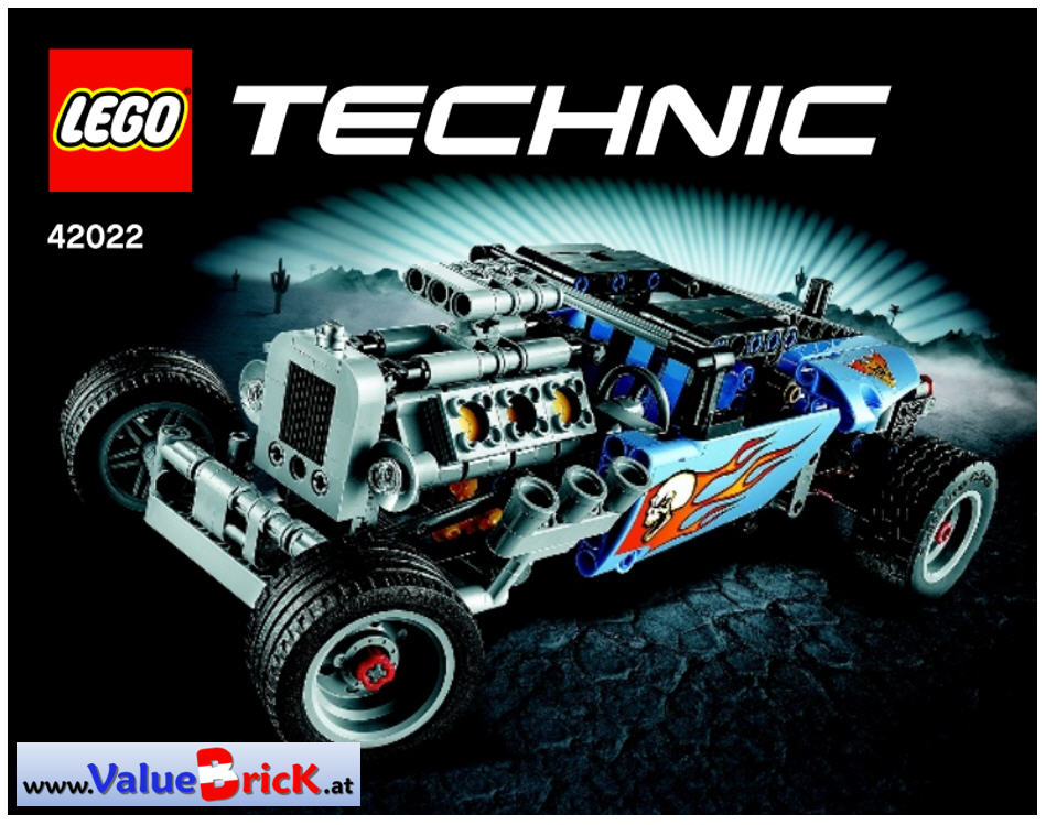 lego technic bauanleitung 42022 hot rod. Black Bedroom Furniture Sets. Home Design Ideas
