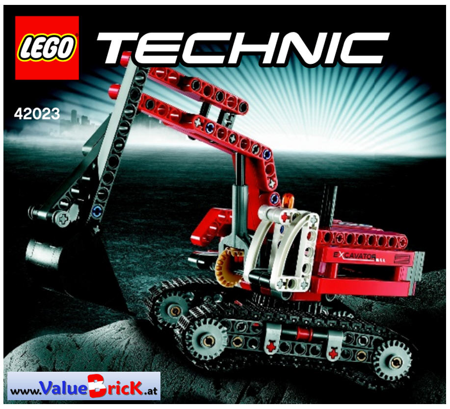 lego technic bauanleitung 42023 baustellen set. Black Bedroom Furniture Sets. Home Design Ideas
