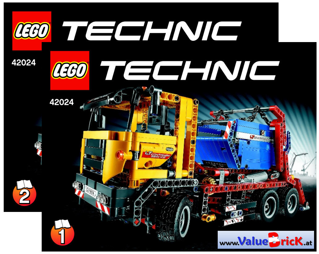 lego technic bauanleitung 42024 container truck. Black Bedroom Furniture Sets. Home Design Ideas