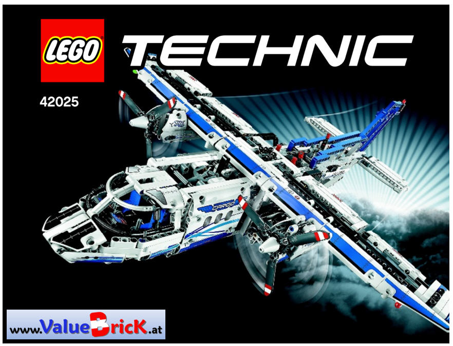 lego technic bauanleitung 42025 frachtflugzeug. Black Bedroom Furniture Sets. Home Design Ideas