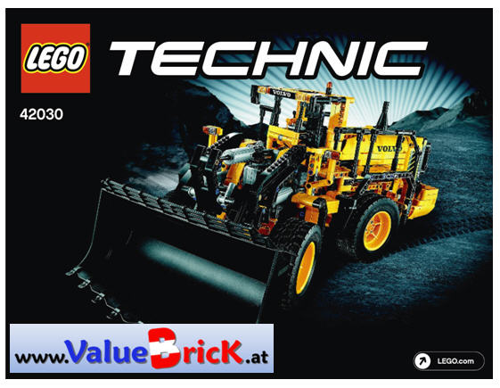 lego technic bauanleitung 42030 volvo l350f radlader. Black Bedroom Furniture Sets. Home Design Ideas