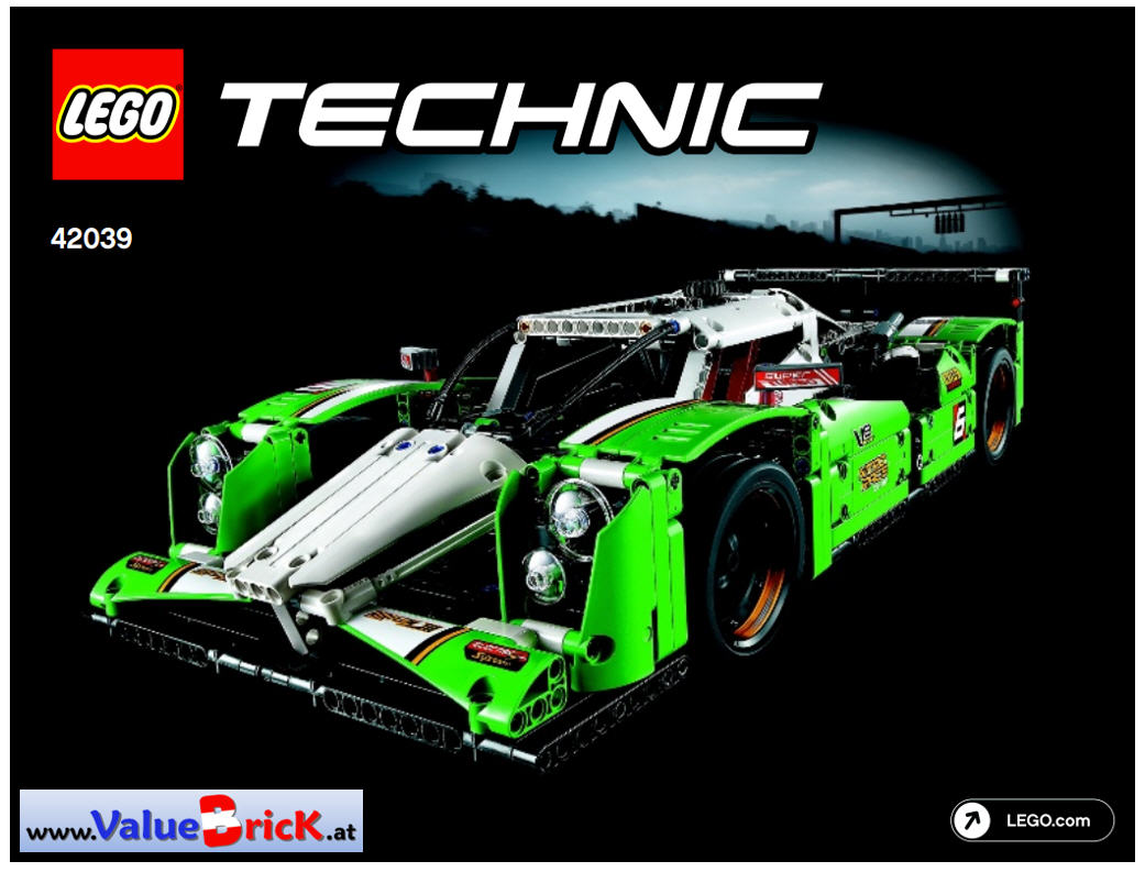 lego technic bauanleitung 42039 langstrecken rennwagen. Black Bedroom Furniture Sets. Home Design Ideas