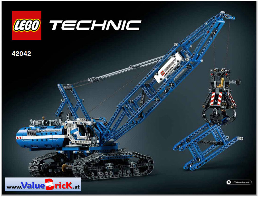 lego technic bauanleitung 42042 seilbagger. Black Bedroom Furniture Sets. Home Design Ideas