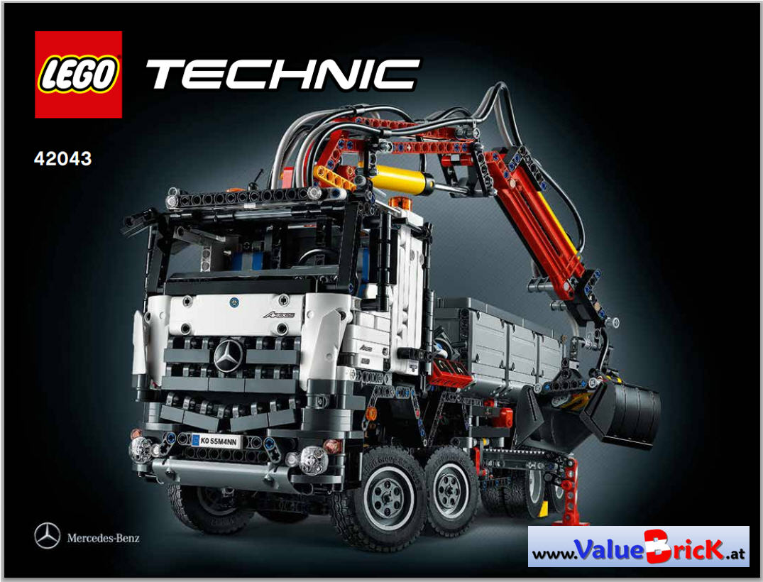 lego technic bauanleitung 42043 mercedes benz arocs 3245. Black Bedroom Furniture Sets. Home Design Ideas