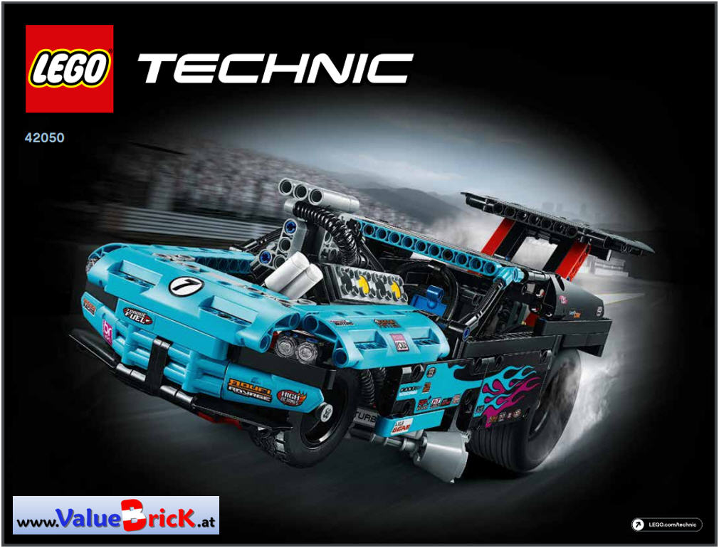 lego technic bauanleitung 42050 drag racer. Black Bedroom Furniture Sets. Home Design Ideas