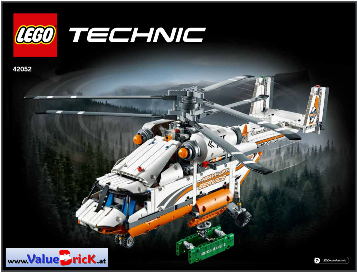lego technic bauanleitung 42052 schwerlasthubschrauber. Black Bedroom Furniture Sets. Home Design Ideas