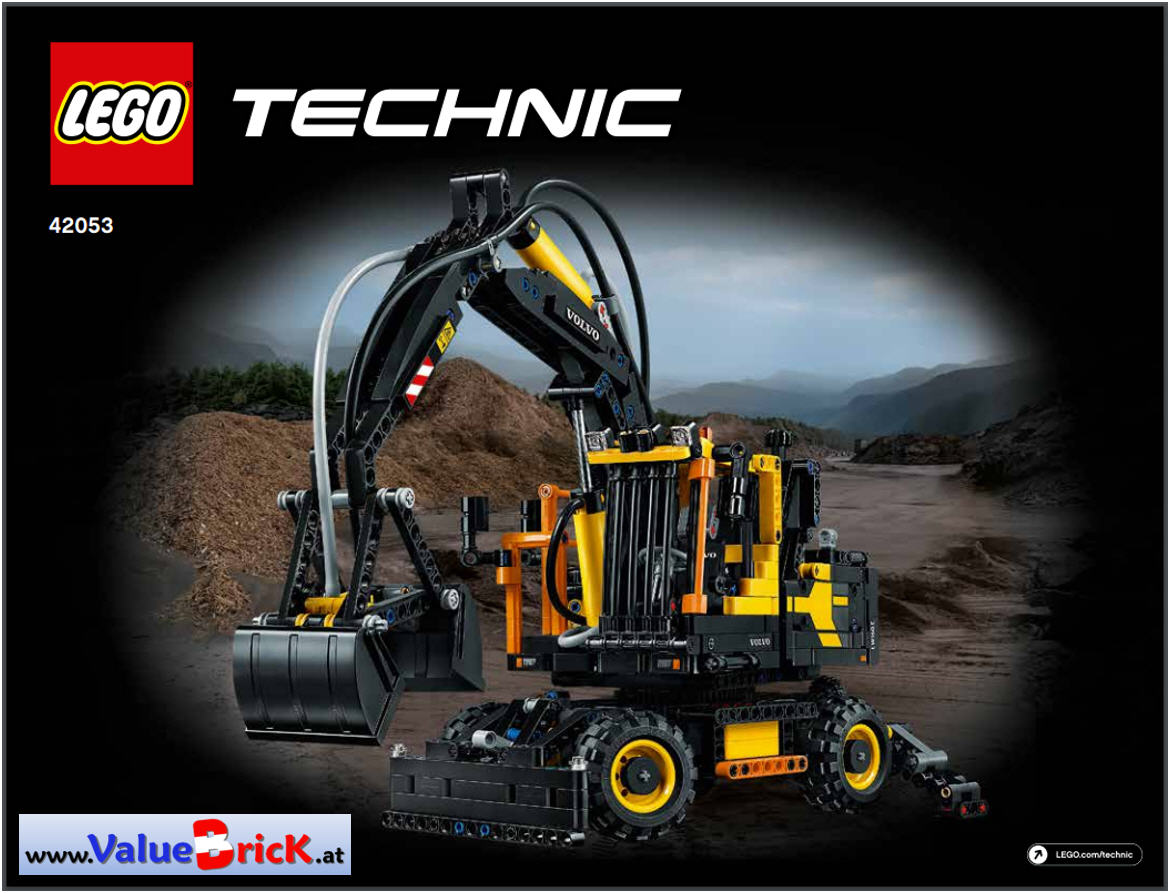 lego technic bauanleitung 42053 volvo ew160e. Black Bedroom Furniture Sets. Home Design Ideas