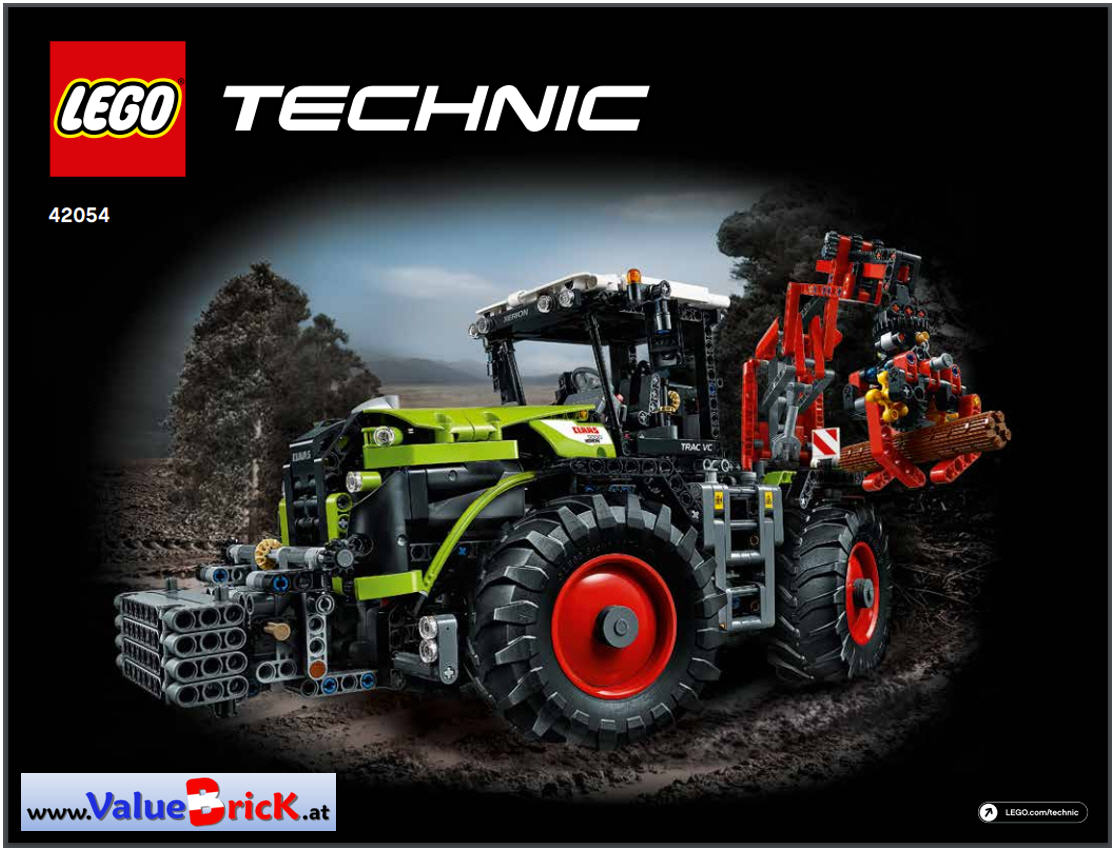 lego technic bauanleitung 42054 claas xerion 5000 trac vc. Black Bedroom Furniture Sets. Home Design Ideas