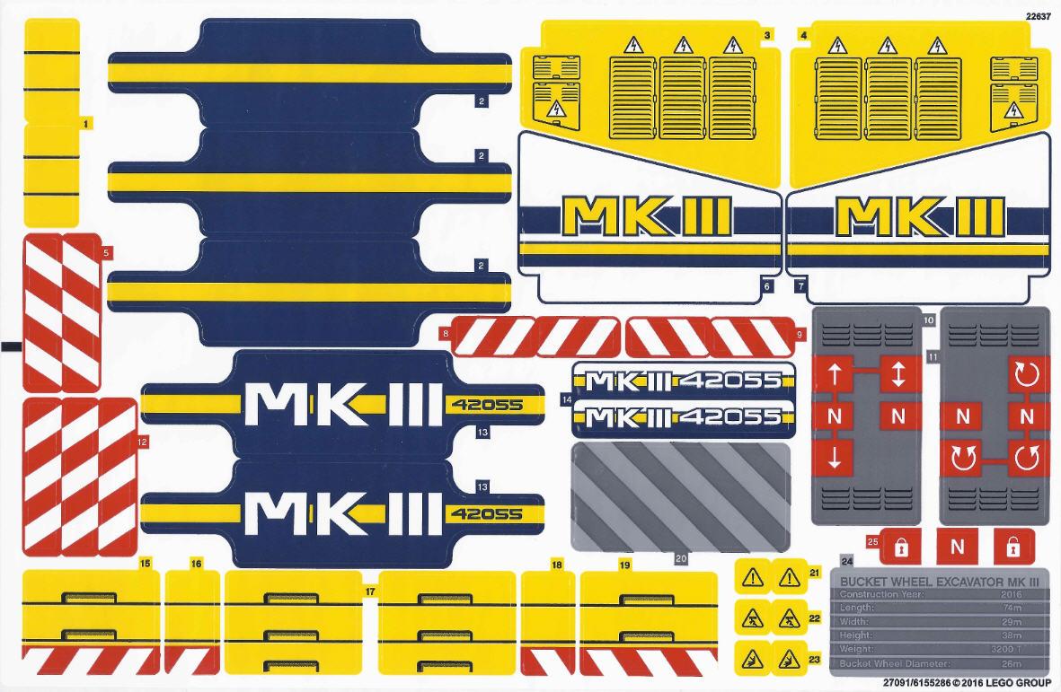 lego technic stickerbogen 42055stk01 schaufelradbagger. Black Bedroom Furniture Sets. Home Design Ideas