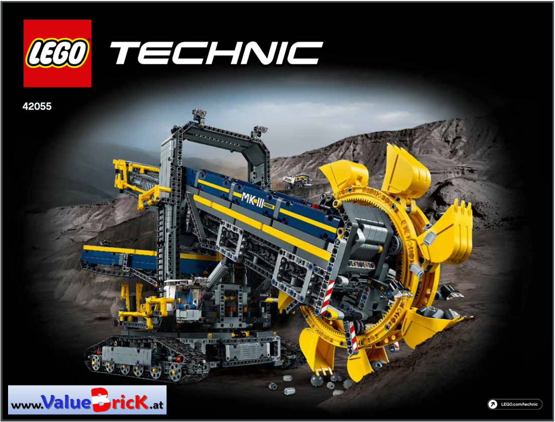 lego technic bauanleitung 42055 schaufelradbagger. Black Bedroom Furniture Sets. Home Design Ideas
