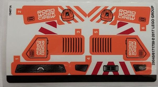 lego technic stickerbogen 42060stk01 stra enbau fahrzeuge. Black Bedroom Furniture Sets. Home Design Ideas