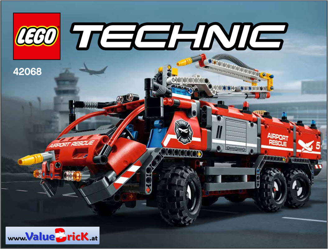 lego technic bauanleitung 42068 flughafen l schfahrzeug. Black Bedroom Furniture Sets. Home Design Ideas