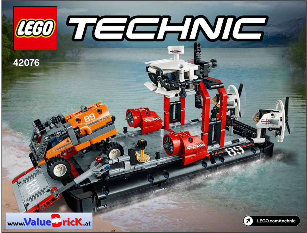 lego technic bauanleitung 42076 luftkissenboot. Black Bedroom Furniture Sets. Home Design Ideas
