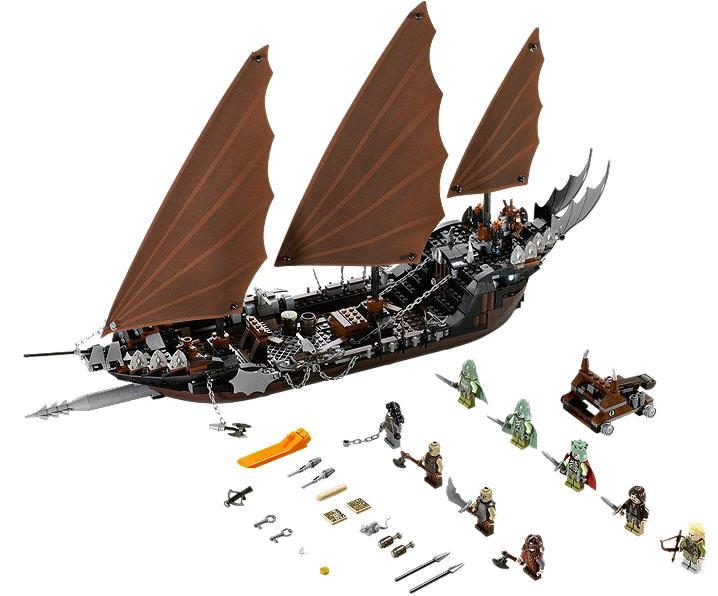 3 Schiffe der Korsaren Lord of the Rings Herr der Ringe 1:72 Figuren