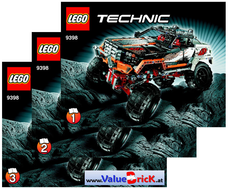 lego technic bauanleitung 9398 4x4 offroader. Black Bedroom Furniture Sets. Home Design Ideas