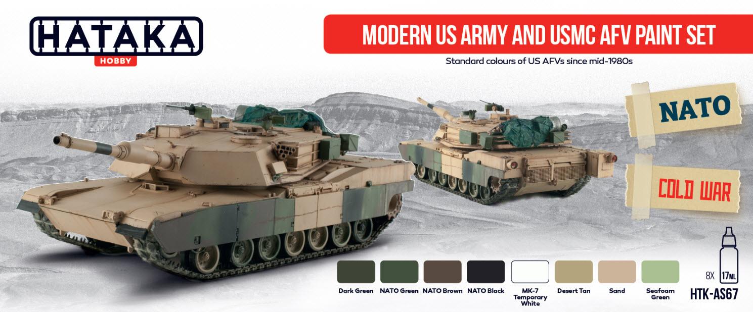 Hataka Hobby HTK AS10 Modern US Army and USMC AFV paint set ...