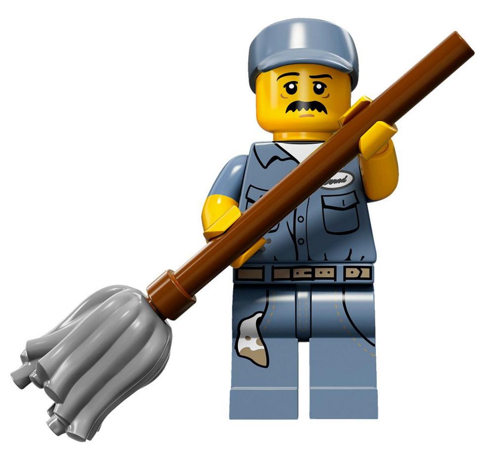 Hausmeister  LEGO Minifiguren Serie 15 71011-15 Hausmeister - ValueBrick.at
